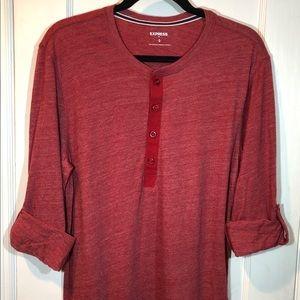 ✨Express Men's Long Sleeve T-shirt - Burgundy